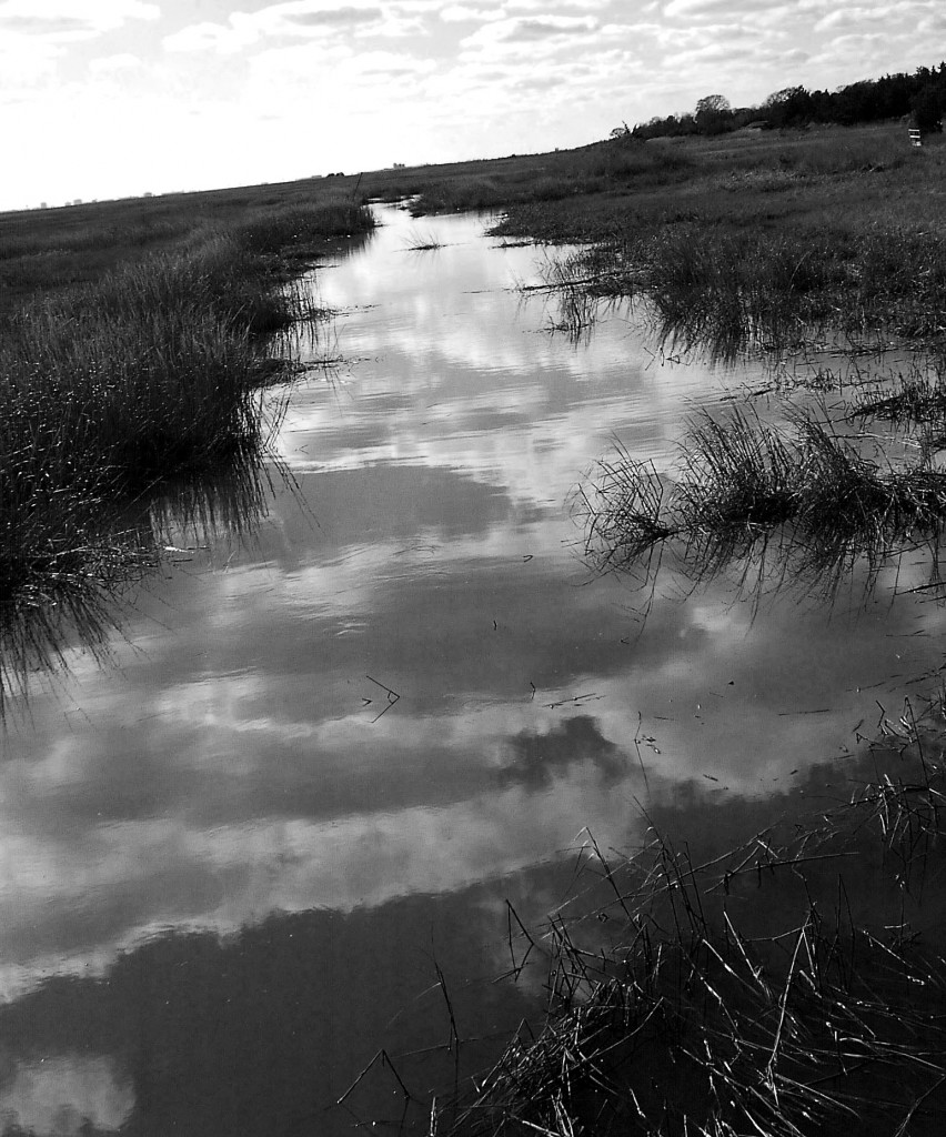 Black & White New Jersey Bay Sky Reflections