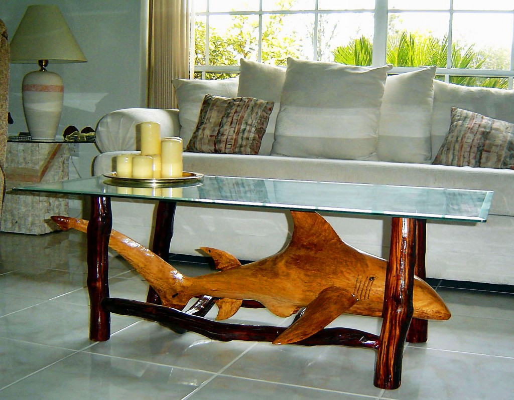 Custom Shark Sculpture Coffee Table