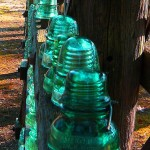 Row Of Electrical Glass Insulators