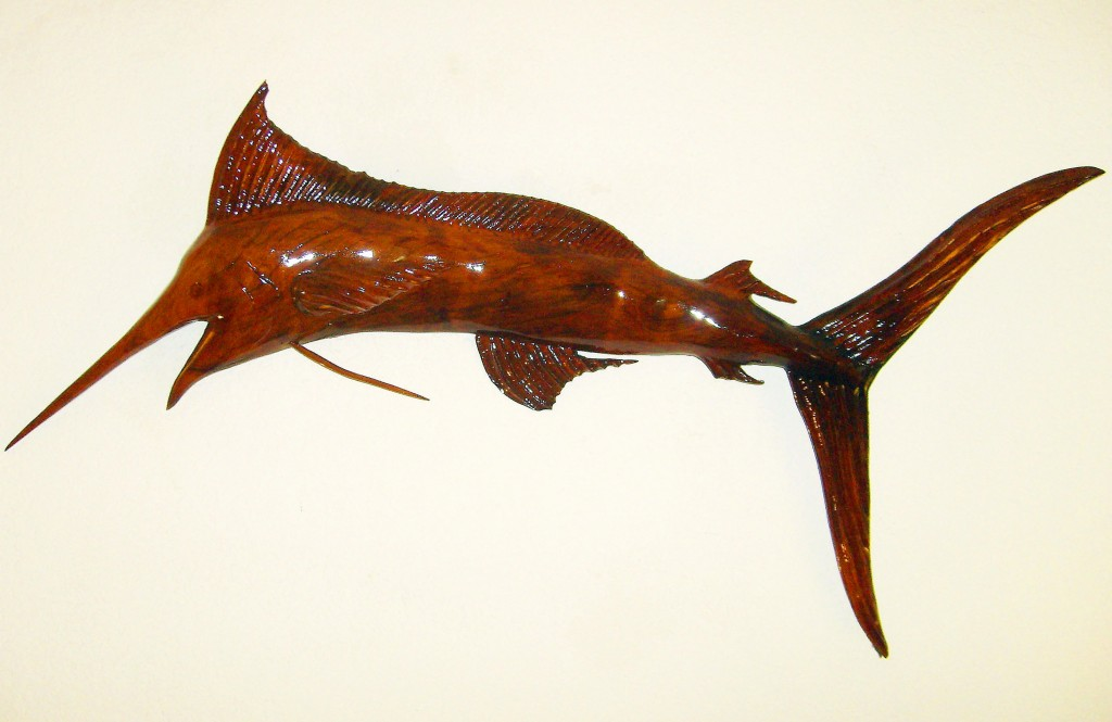 4ft x 3ft Blue Marlin Cedarwood Sculpture