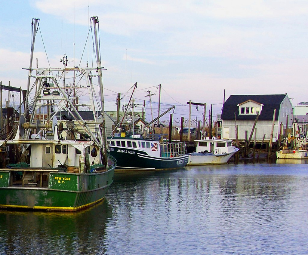 Fishing Vessels Docked In Jersey Fishing Village