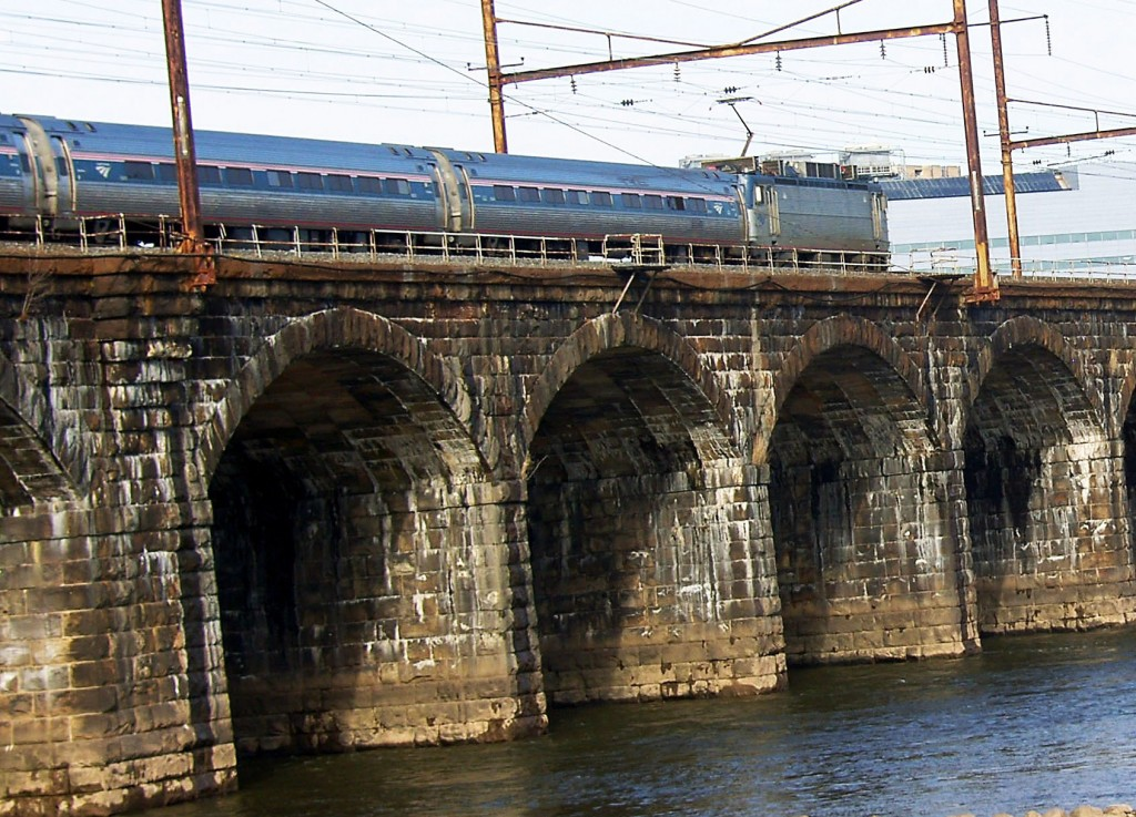 Amtrak Metroliner Crossing Delaware River