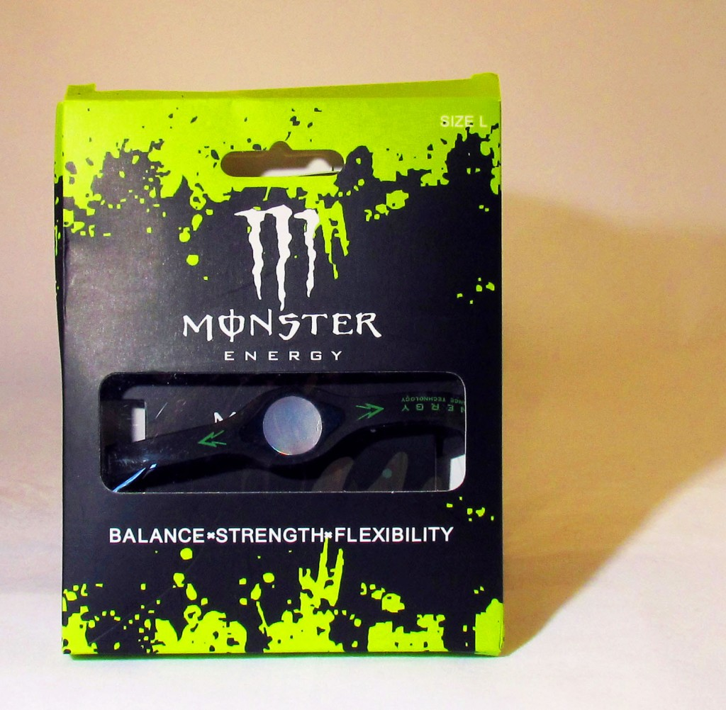 Black Monster Energy Bracelet In Box