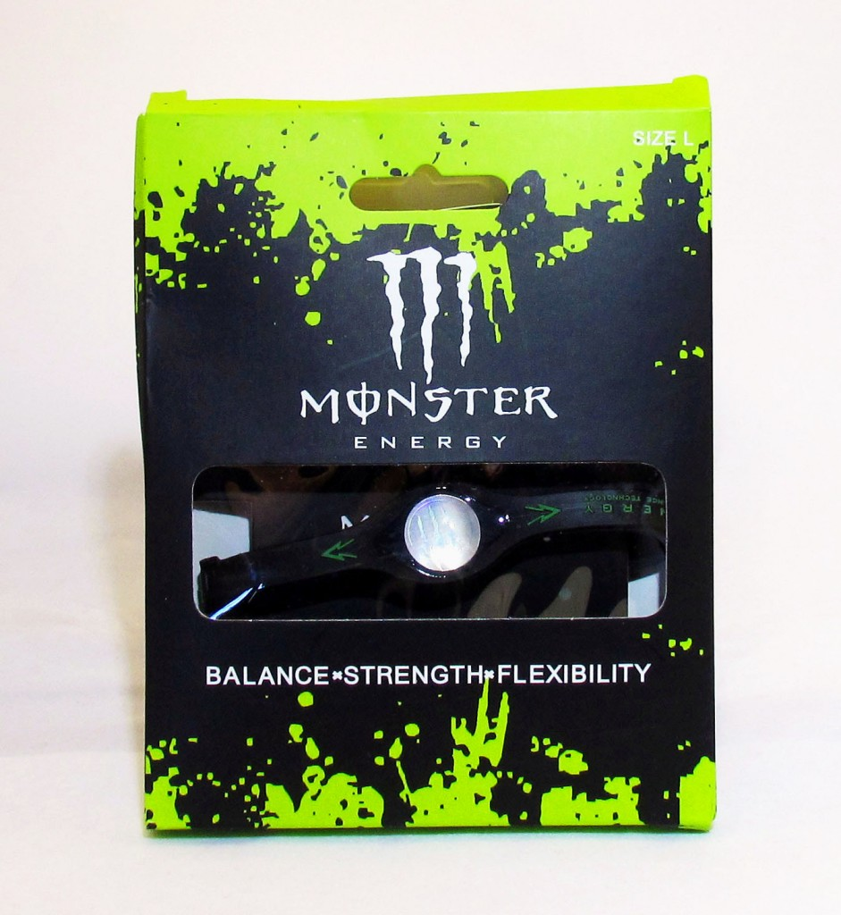 Boxed Black Monster Energy Bracelet