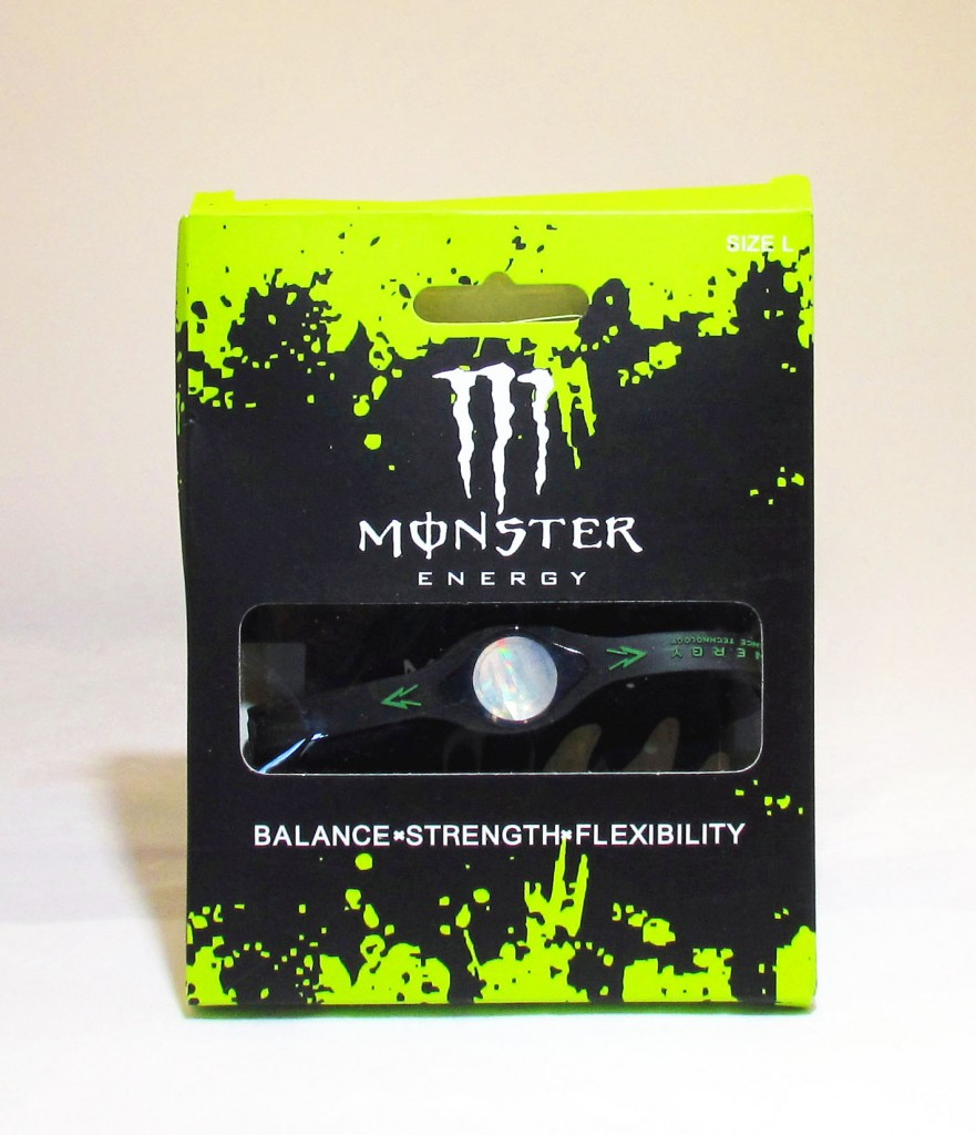 Monster Energy Bracelet Black