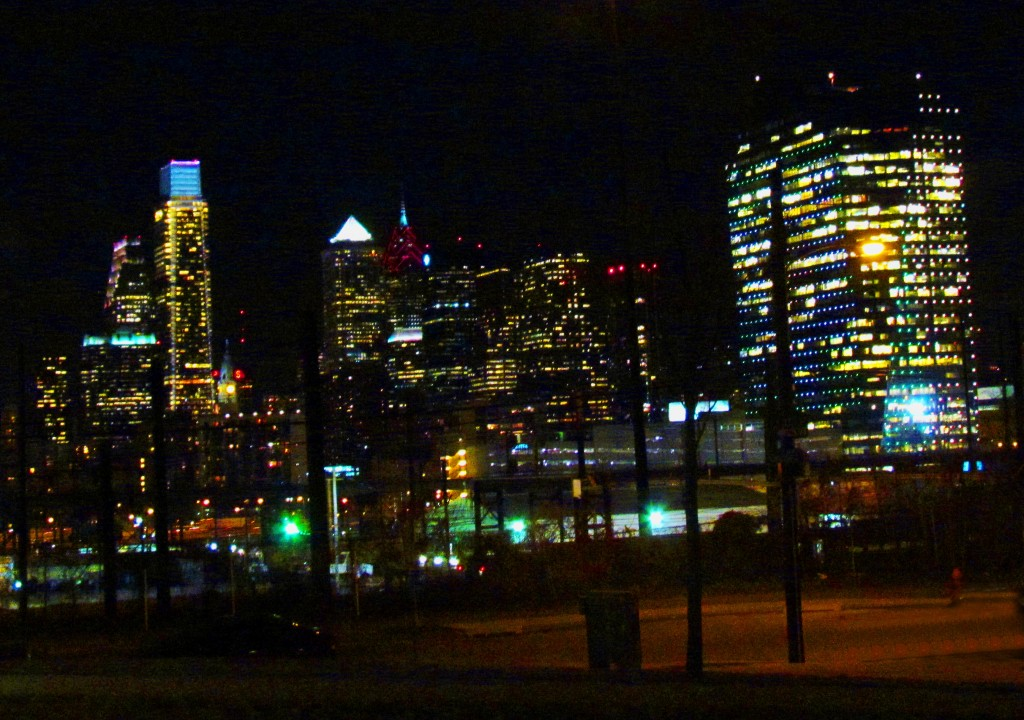 Night Time Philadelphia Skyline
