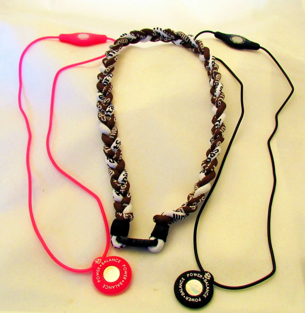 Silicone Power Balance & Titanium Necklaces
