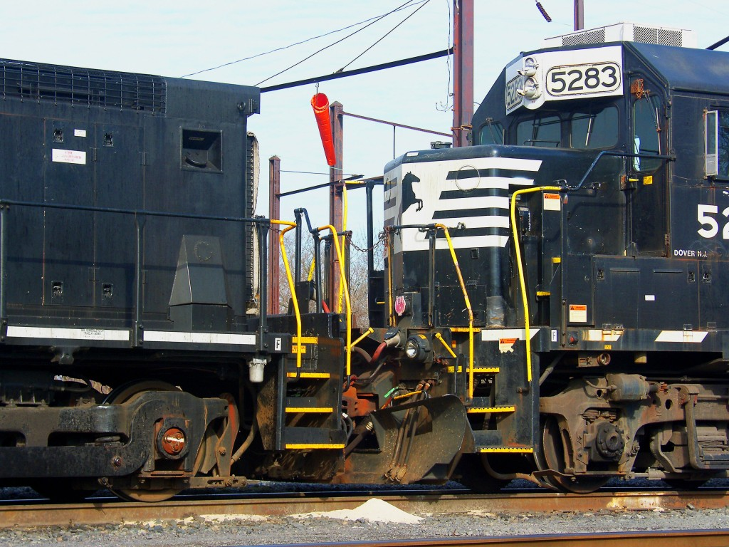Two Coupled Freight Tran Locomotives