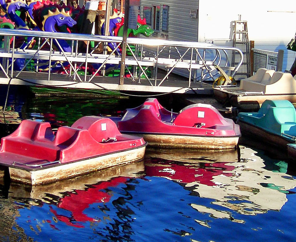 Paddle Boat Reflections In Baltimore Harbor