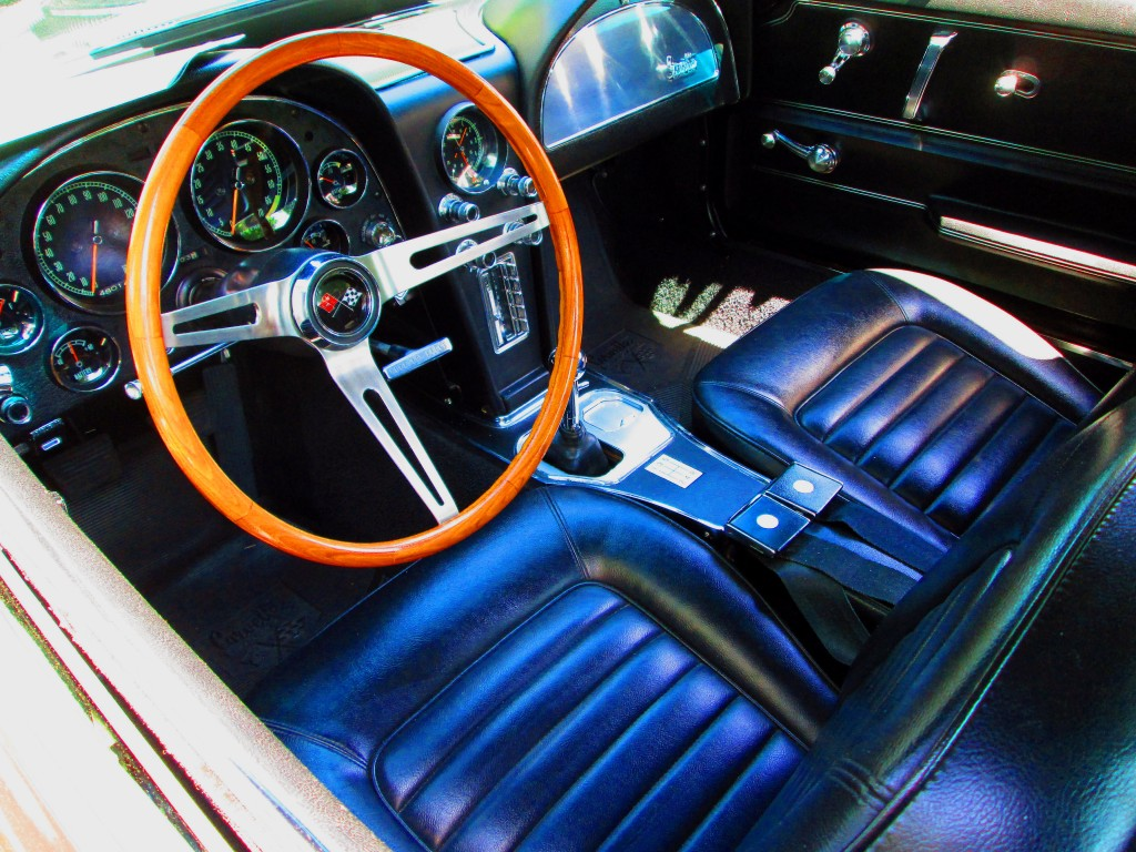 Interior Of Classic 1966 Corvette Stingray