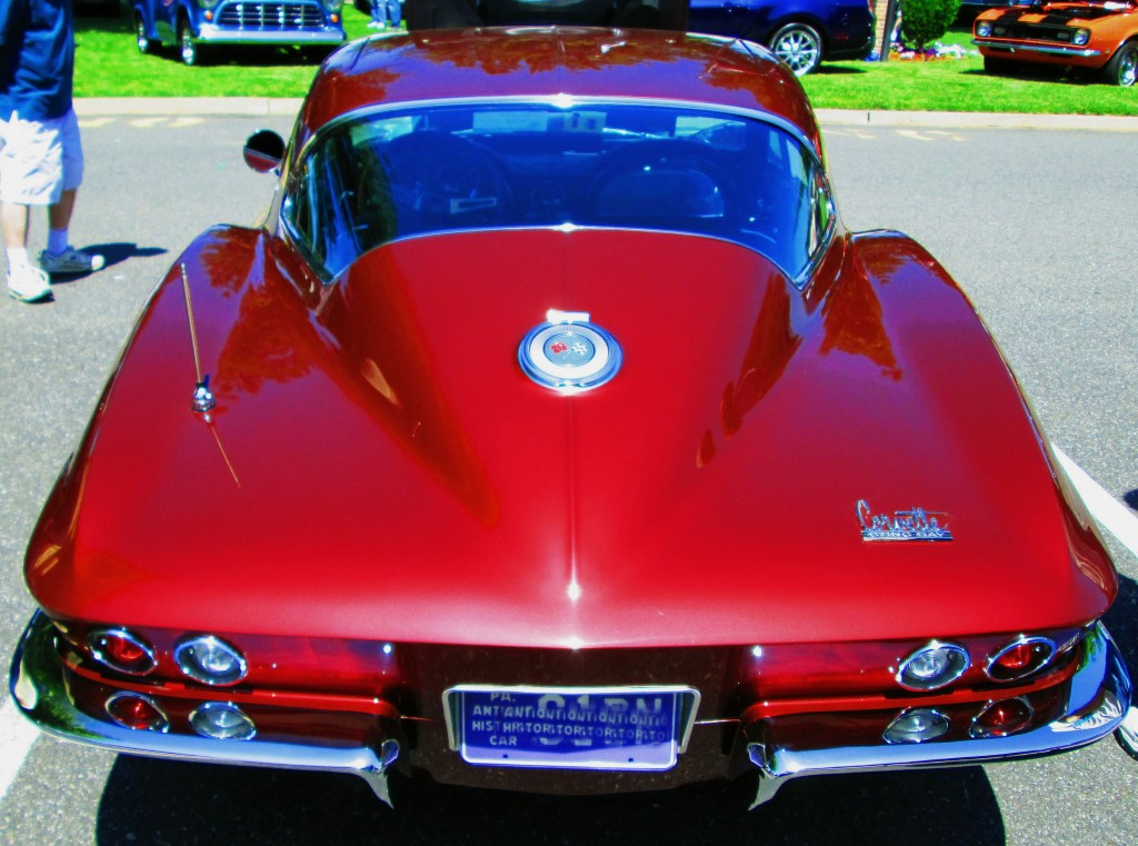Rear View Of Classic 1966 Corvette Stingray