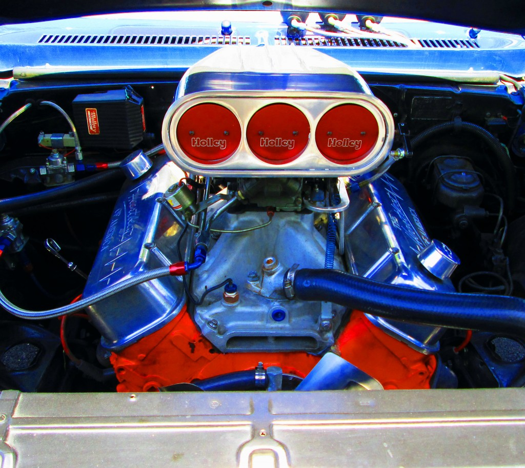 396 Engine With Holley Carbs In 1969 Nova Super Sport