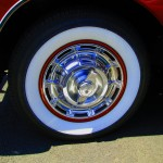 59 Chevy Corvette Wheel With Spinner Hubcap
