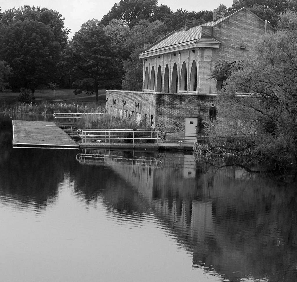 Black & White Of FDR Park Boat House
