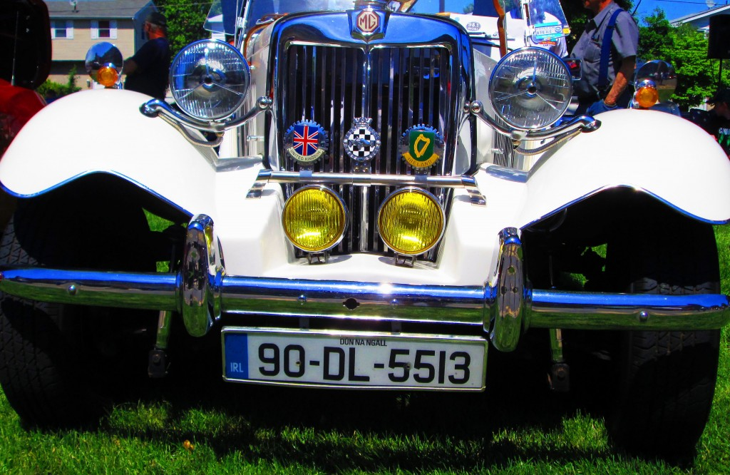 Chrome Front Bumper & Grille Of Modified 1952 MG