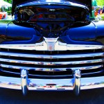 Chrome Front Grille & Bumper Of 1947 Ford Convertible