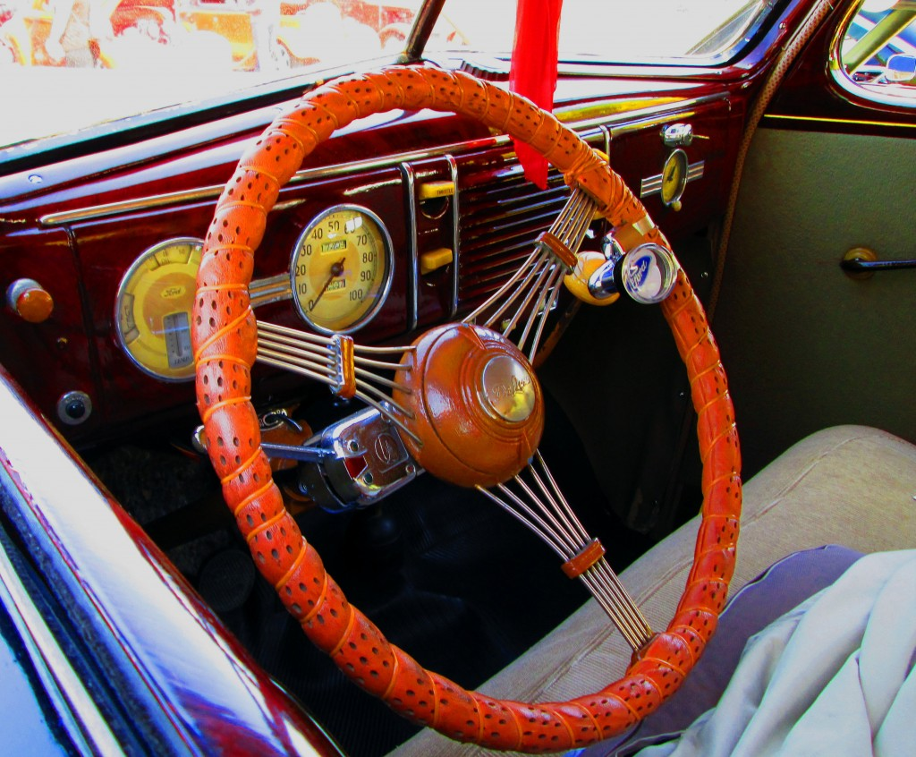 Dash Board & Steering Wheel Of 1939 Ford Deluxe