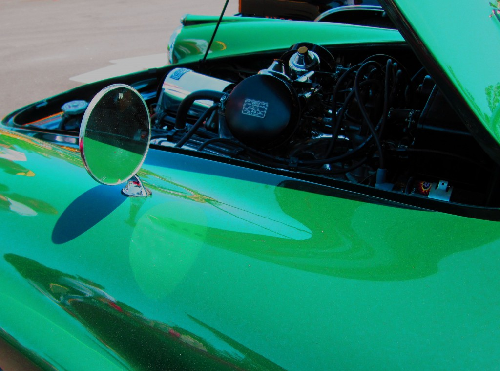 Driver Side Mirror Of Classic 1963 SP250 Daimler