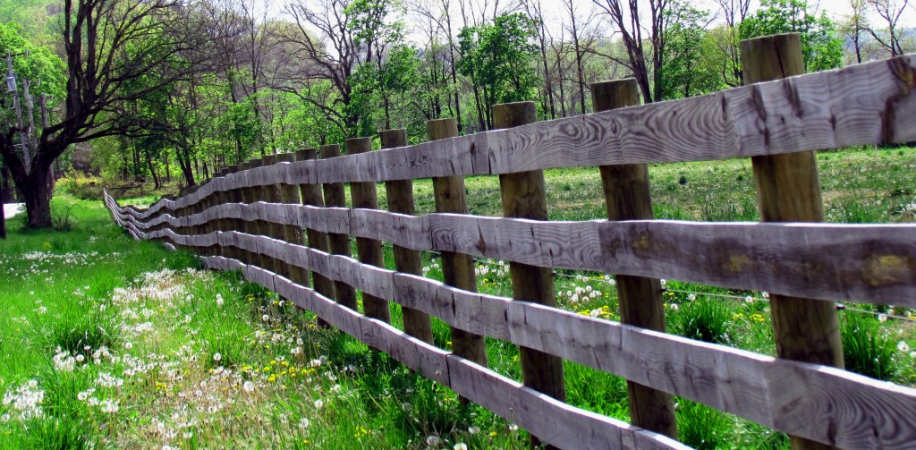 Farmers Wooden Fence With Electric Energizer