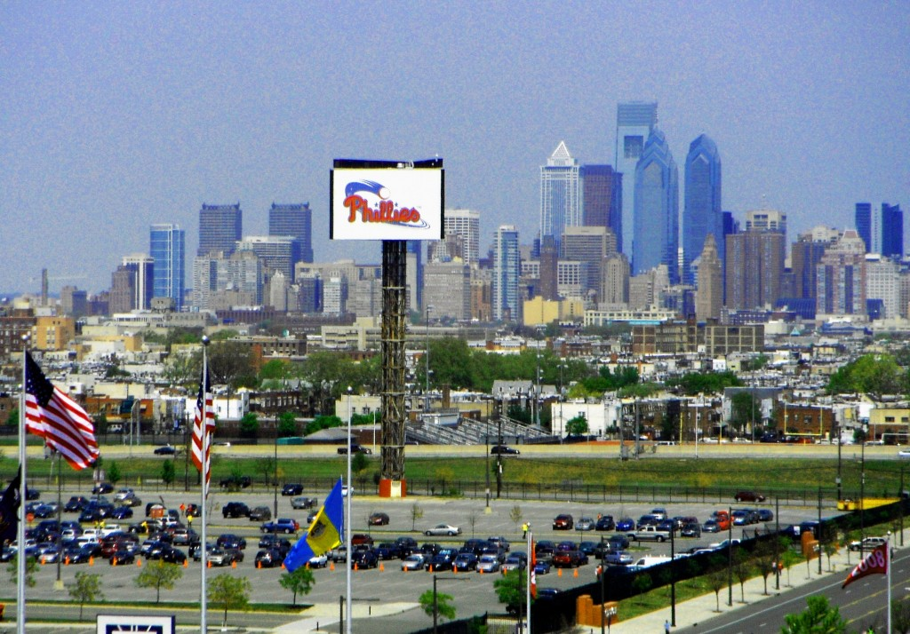 Philadelphia Skyline Seen From Citizens Bank Park