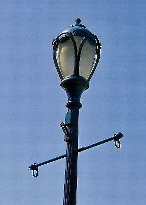 Phoenixville Street Lamp With Flag Banner & Holders