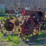 Red Antique Farm Tractor