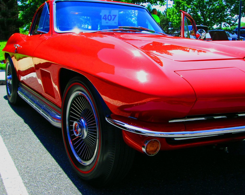 Red Corvette Front Quarter Panel & Side Exhaust