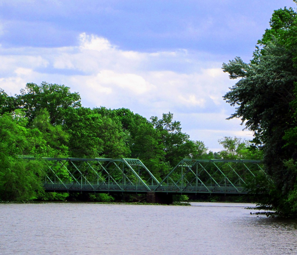 Ward Street Bridge Over Peddie Lake In Highstown NJ