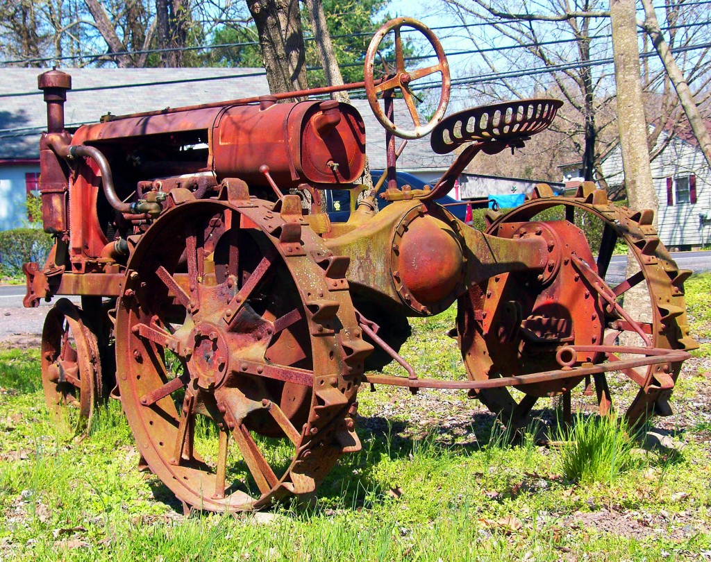Antique Red Farm Tractor