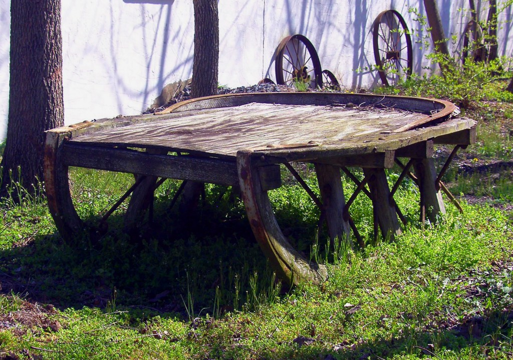Antique Sleigh In Yard