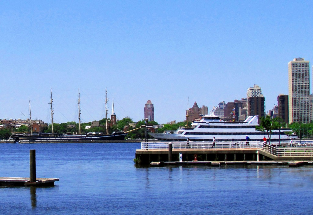 Moshulu & Spirit Of Philadelphia Seen From Camden River Front