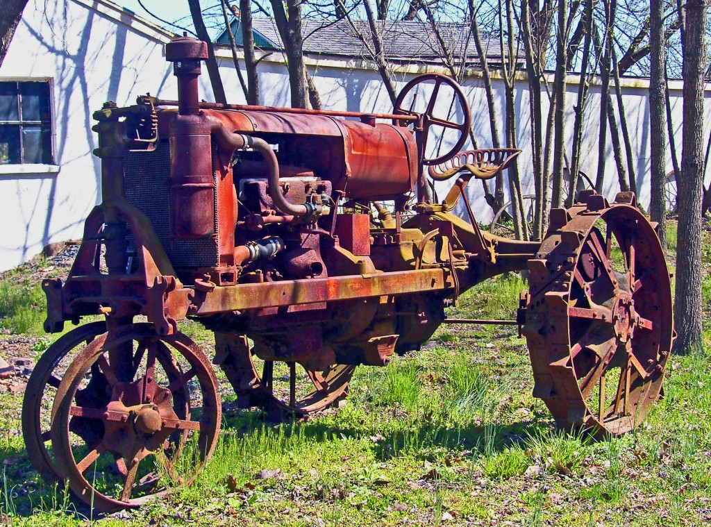 Old Rusted Farm Tractor