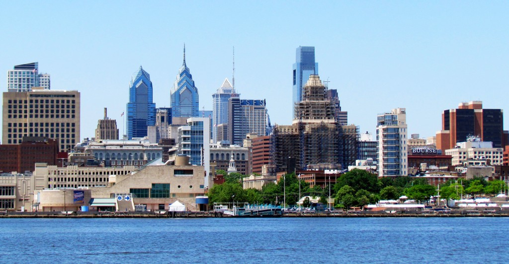 Philadelphia Penns Landing & Center city Skyline