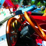 Wood Steering Wheel & Dash Of 1952 MG