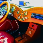 Wooden Dash & Steering Wheel For TD Model Of Modified 1952 MG