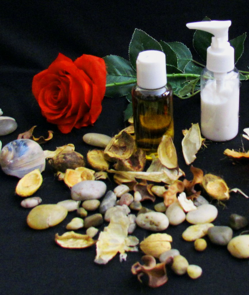 Massage Therapy Cream & Oil With Red Rose