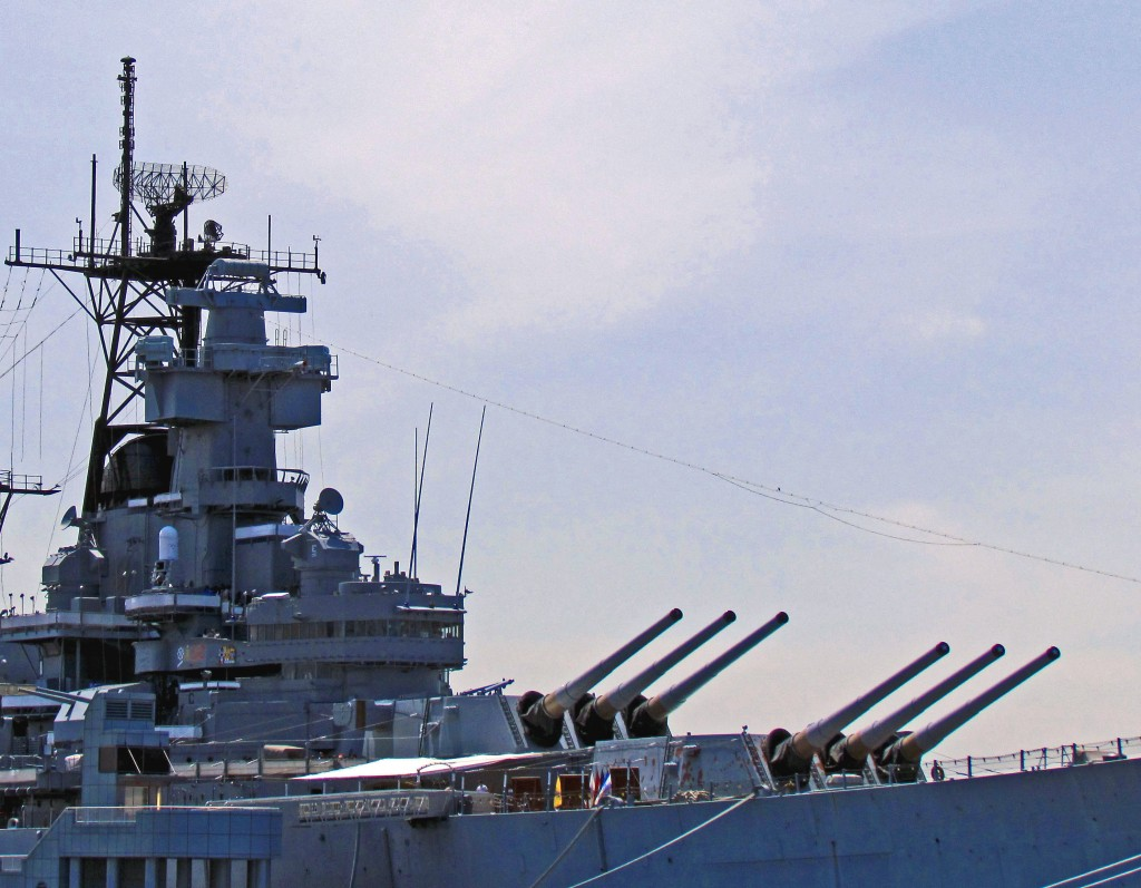 USS New Jersey Battleship Mark 7 Guns