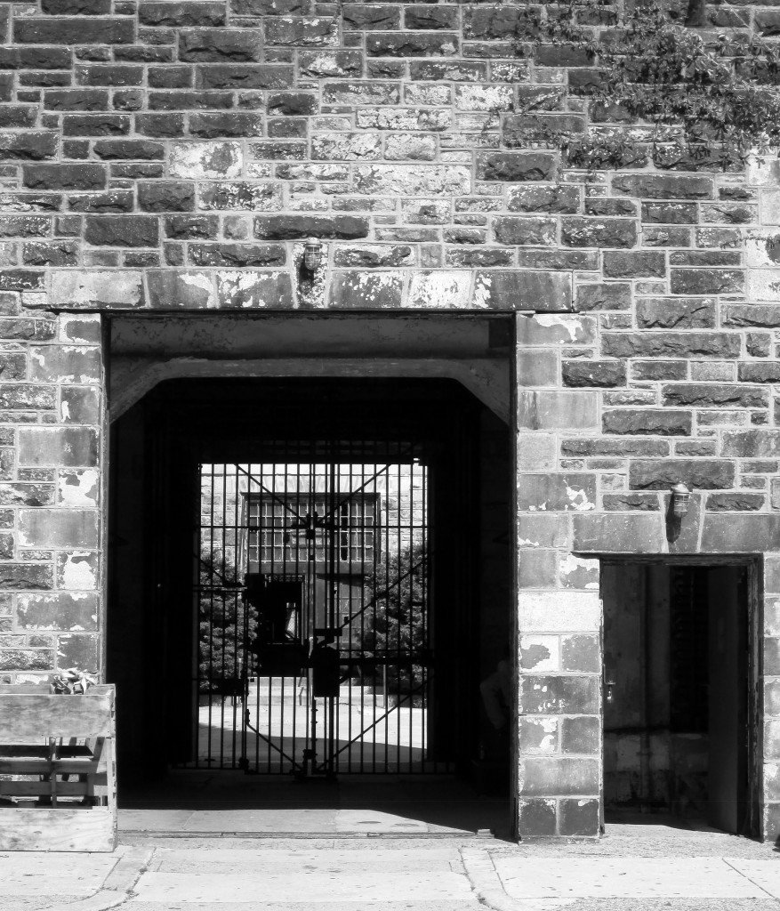 Black & White Eastern State Penitentiary Entrance