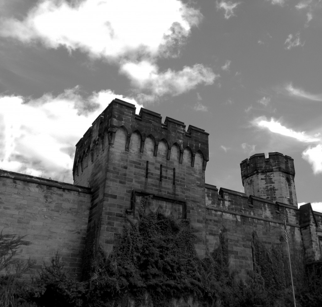 Black & White Eastern State Penitentiary South Wall