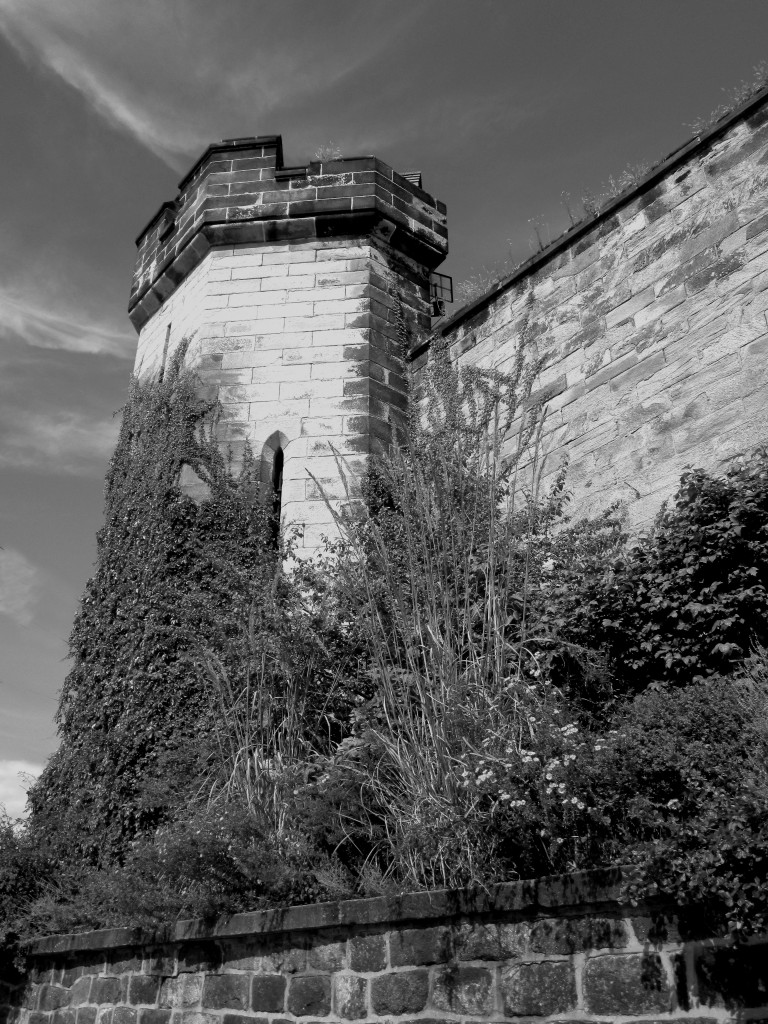 Black & White Of Eastern State Prison Watch Tower