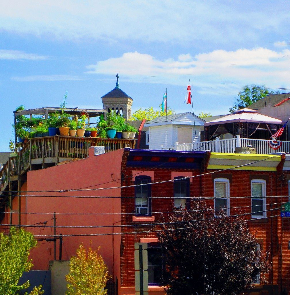 Colorful Philly Roof Top Decks