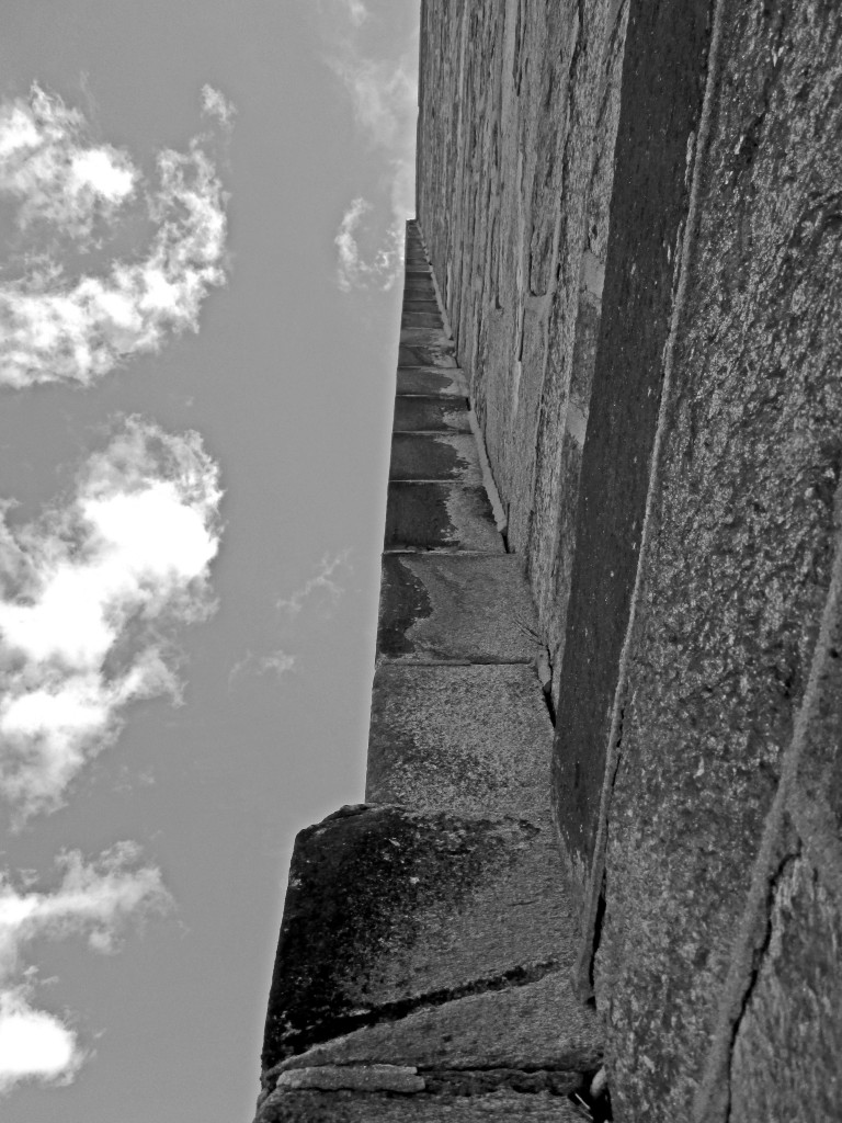Looking Up Prison Wall