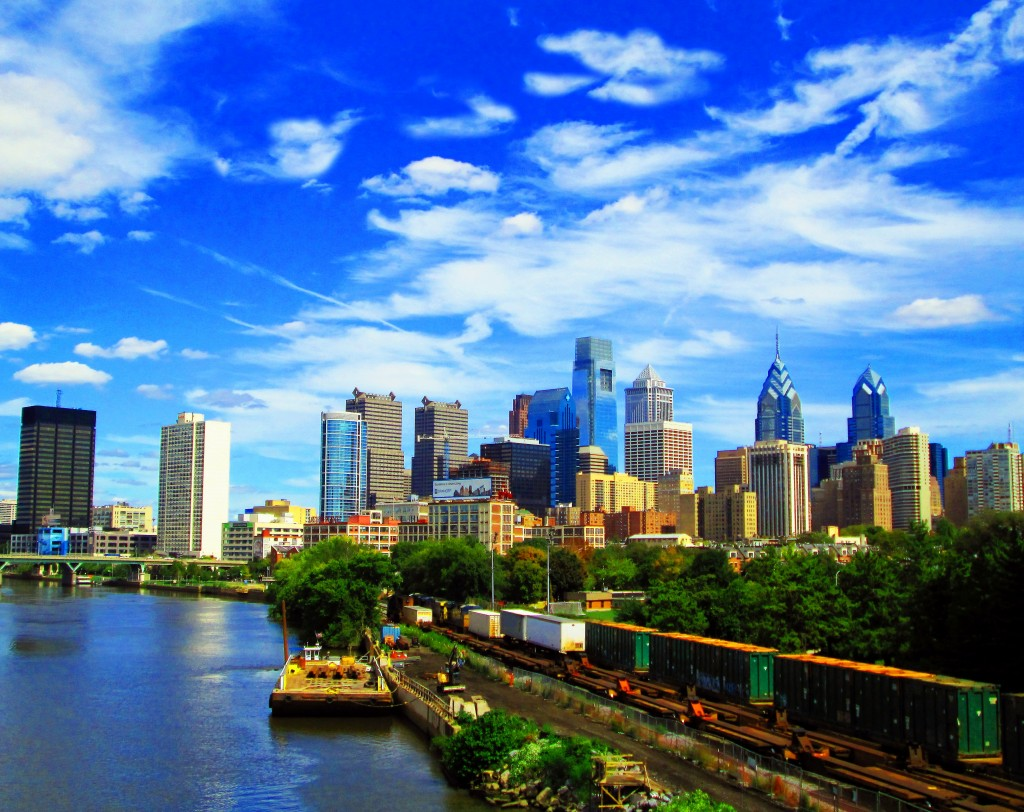 Philly Skyline View From South Street Bridge
