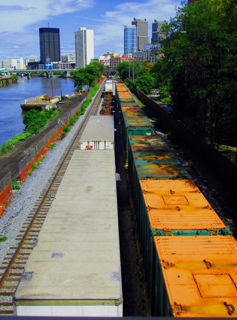 Rail Cars & Barge In South Philadelphia