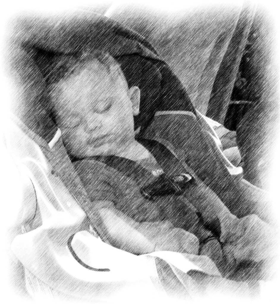Asleep In A Car Seat