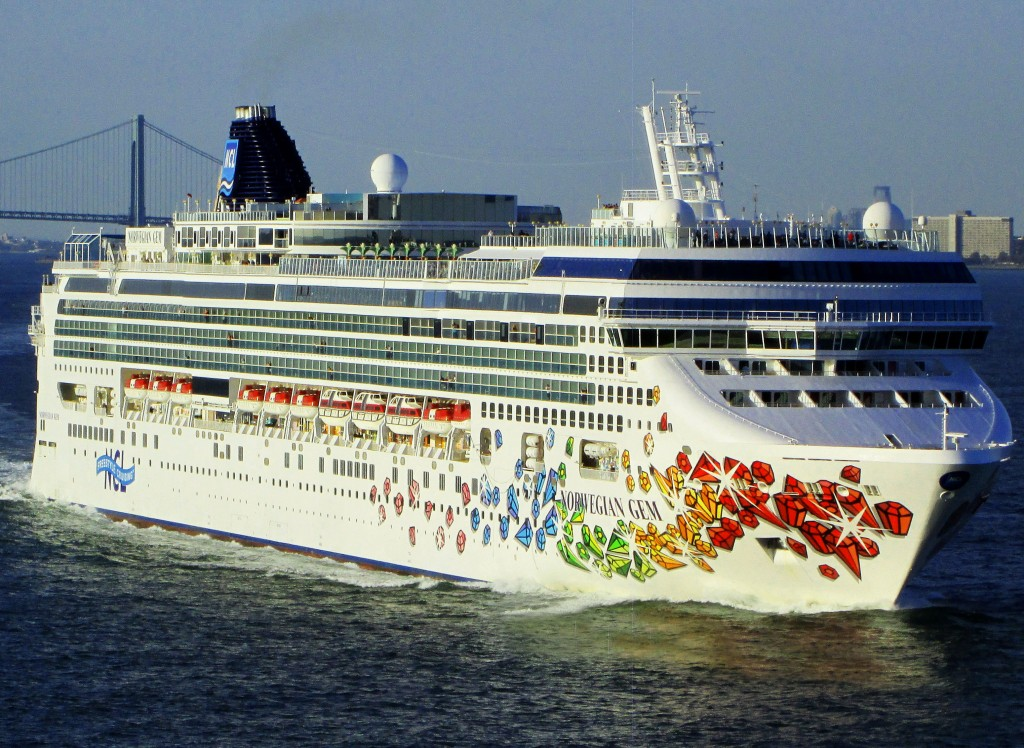 Cruise Ship Heading To The Eastern Caribbean