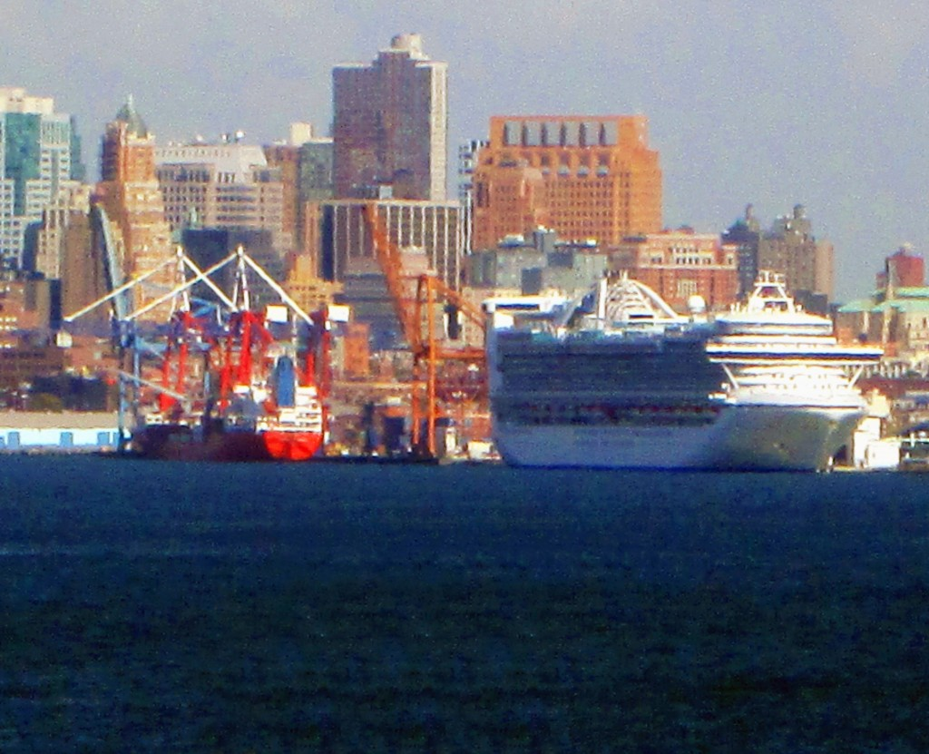 Cruise Ship In Upper New York Bay