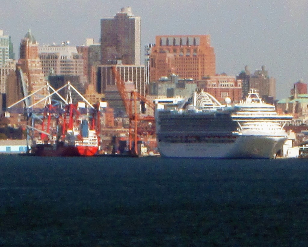 Cruise Ship Docked In Brooklyn NY