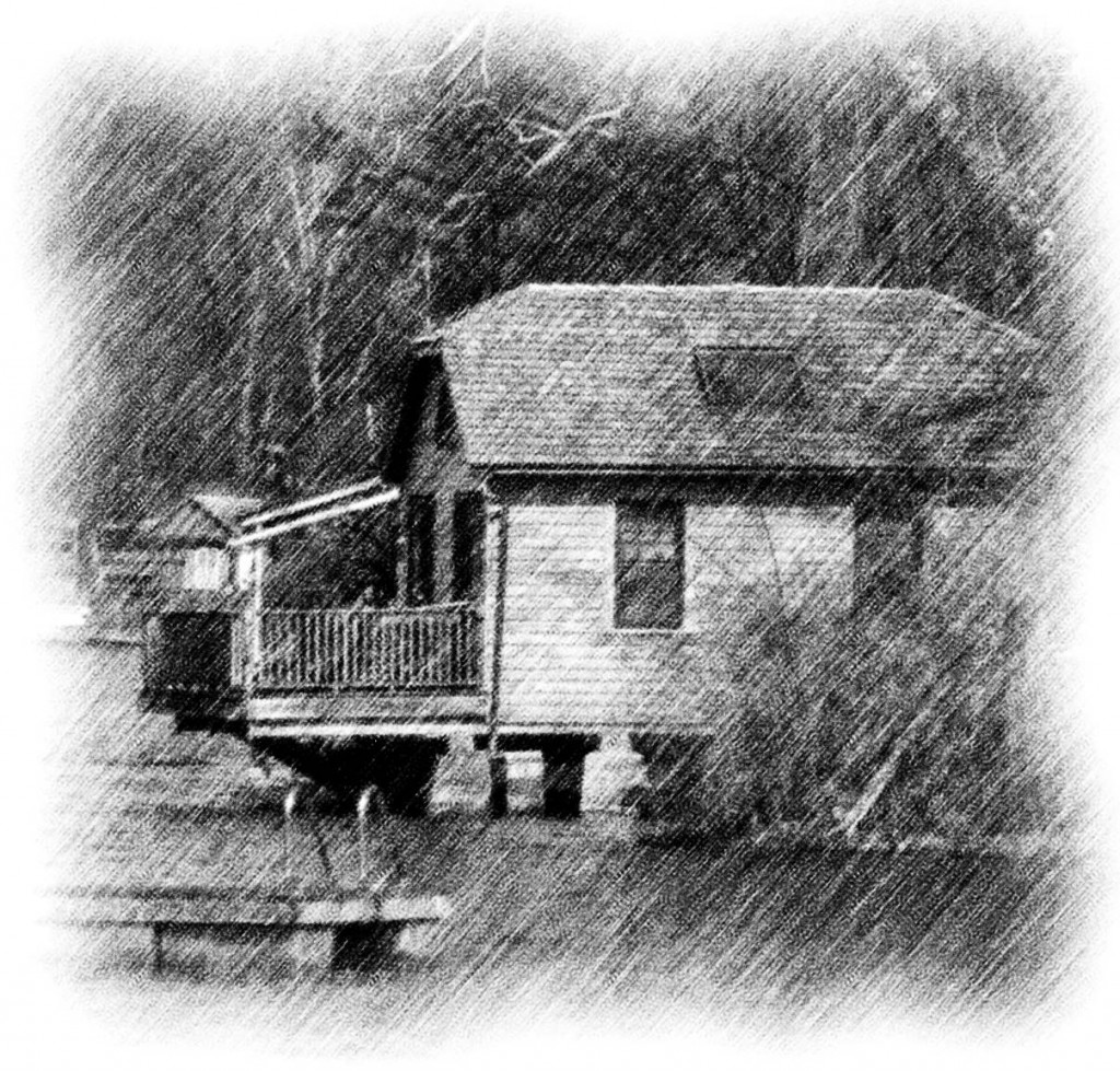 Jersey Lake House Pencil Sketch