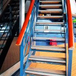 Stairs To Upper Cruise Ship Deck